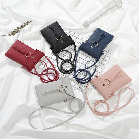 Cell Phone Tassel Purse Cross Body