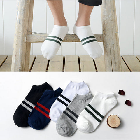 Men's Two Stripe 4 Pack of Socks