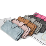 AK Collection Nubuck Tri-Fold Wallet