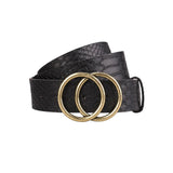 AK Collection Woman's Belt with Double O Buckle
