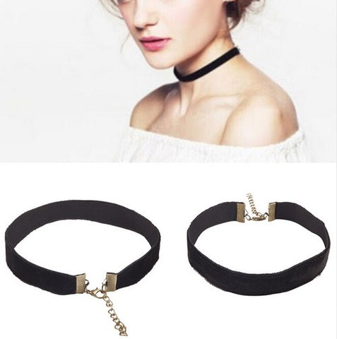 Black Ribbon Choker Necklace