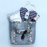 AK Collection Patterned Shoulder Beach Bag