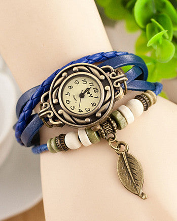 Bohemian Leaf Wrap Watch