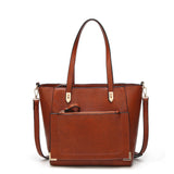 The Ancona By AK Collection Vegan Tote Handbag
