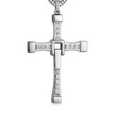 Crystal Men's Cross Necklace