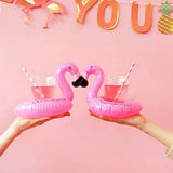 Pink Flamingo Pool Party Inflatable Cup Holder