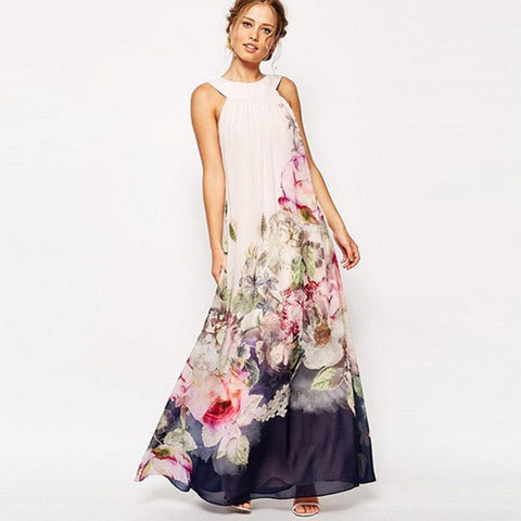 Vincenza Summer Floral Maxi Dress