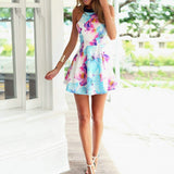 Floral Summer Mini Dress By Vincenza