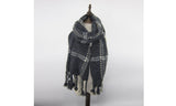 Oversized Plaid Blacket Scarf by AK Collection