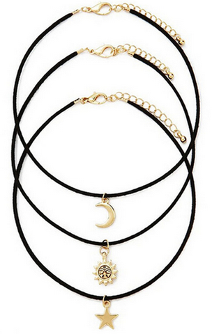 Sun Star Moon Choker Set