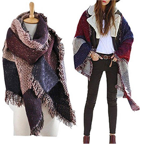 Patchwork Oversized Scarf By Vincenza