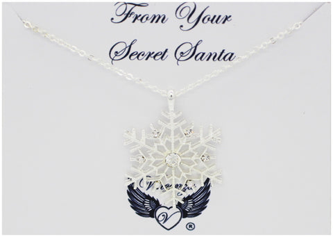 Secret Santa Snowflake Necklace