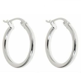 Sterling Silver French Lock Hoop Earrings
