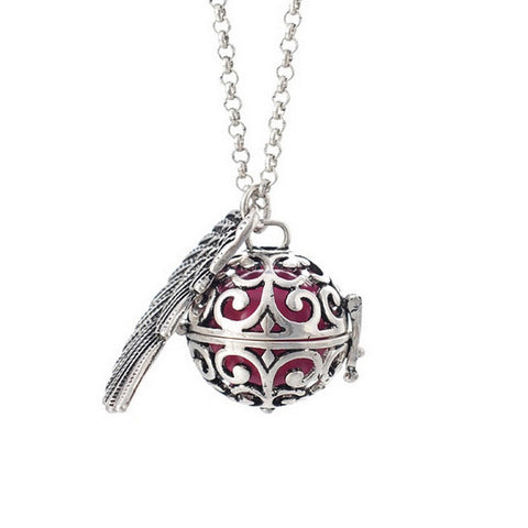 Guardian Angel Wing Sound Ball Necklace