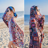 AK Collection Oversized Square Patterned Summer Scarf