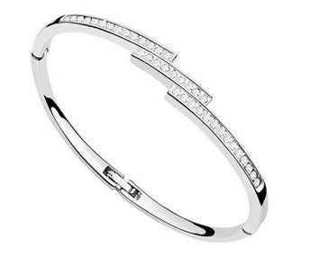 Crystal Triple Row Bangle