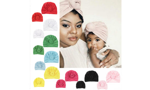 Mommy and Me Knot Turban Hat