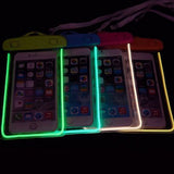 Waterproof Transparent Fluorescent Phone Case