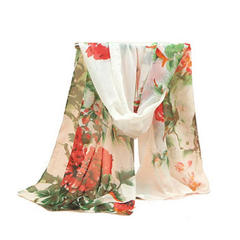 Vincenza Oversized Floral Chiffon Scarf