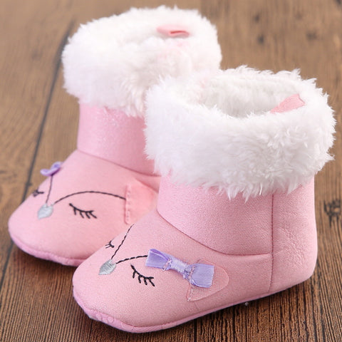 BeautyBow (Pink) Winter Boots