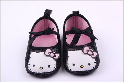 Hello Kitty Glitter Slippers (Black)