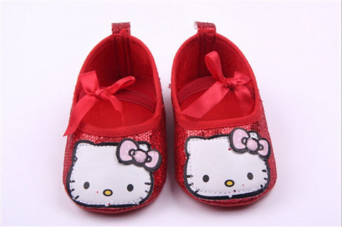 Hello Kitty Glitter Slippers (Red)