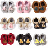 PinkySuede Moccasins