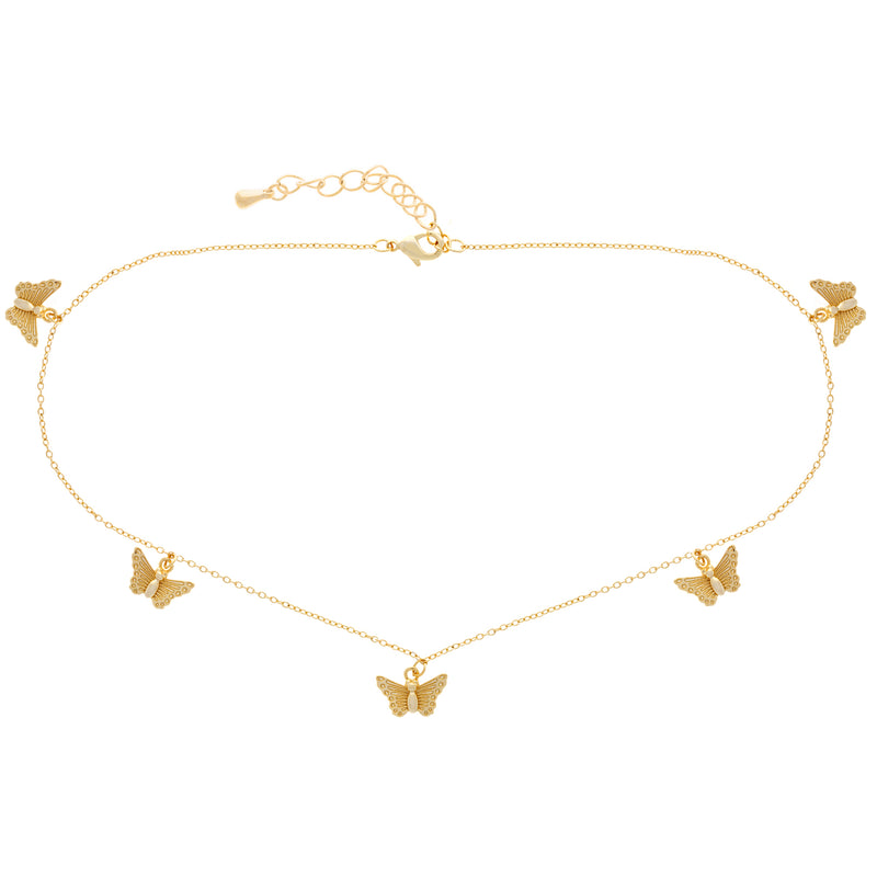 Fly Away Choker : Gold