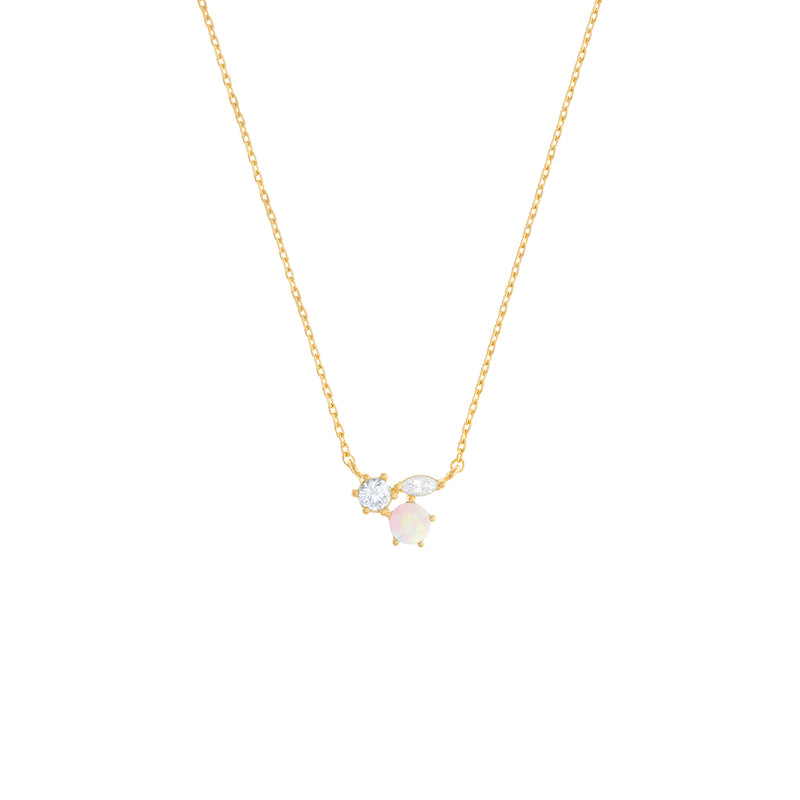 Mila Necklace: Gold