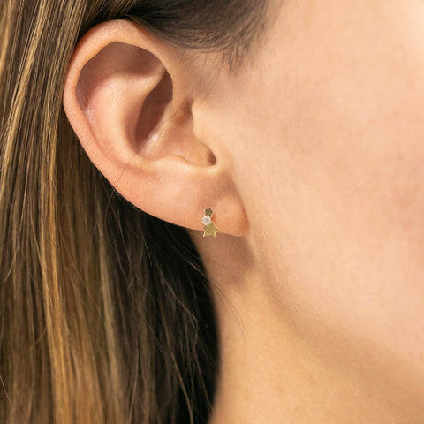 14k Fine Shooting Star Stud Earrings