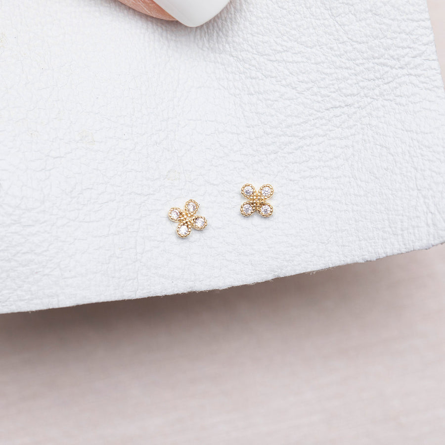 Teeny Tiny Clover Studs