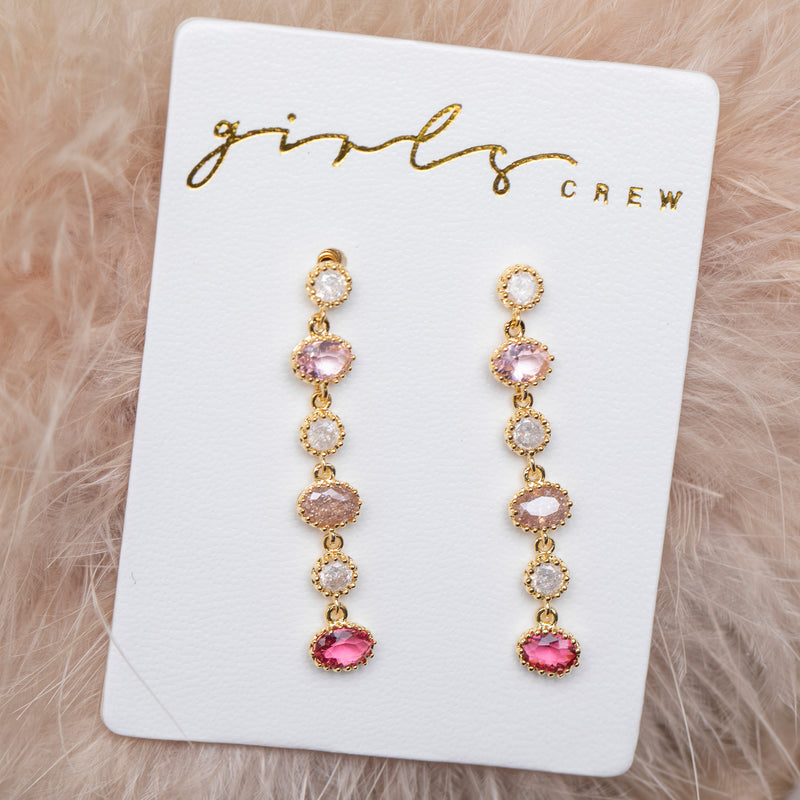 Sleeping Beauty Dangle Earrings : Gold