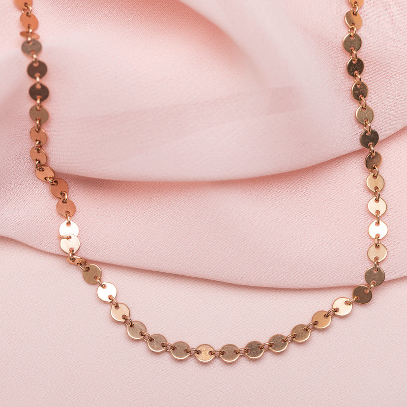 Coin Choker : Rose Gold