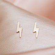 Lightning Bolt Studs : Gold