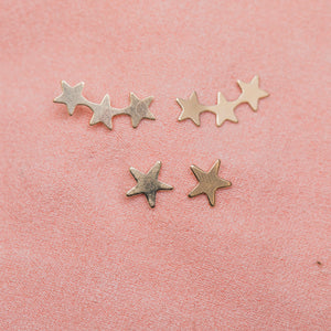 Star Crawler Earrings : Gold