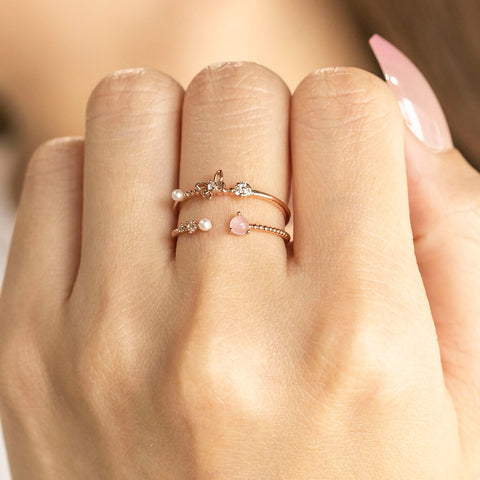 Pearly Wings Ring Set