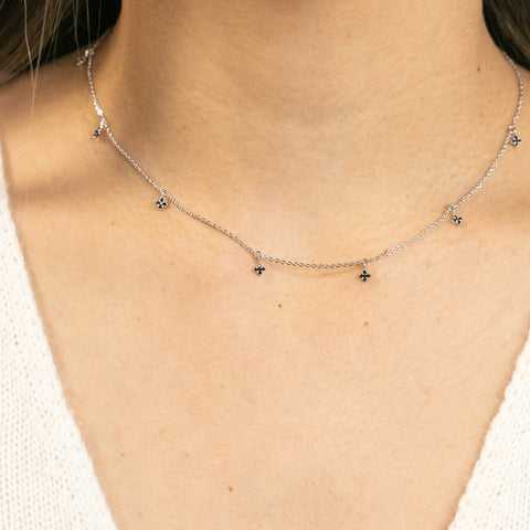 Ebony Diamond Dangle Choker