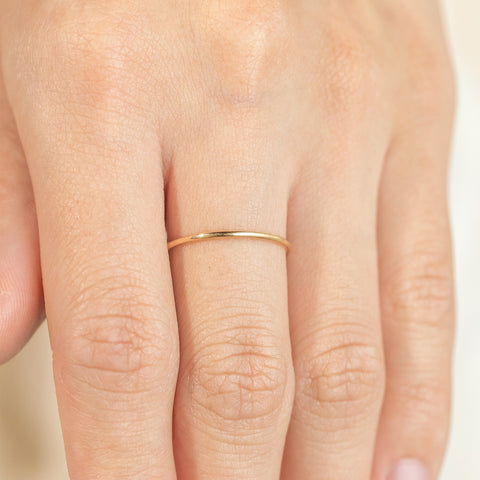 14k Fine Solid Classic Stacker Ring
