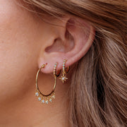Starry Night Mini Hoops