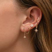 Fine Comet Double Earring