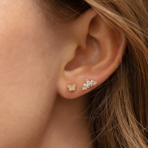 Cubic Crown Piercing Style Earring
