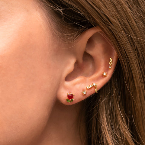 Tiny Tulip Piercing Style Earring