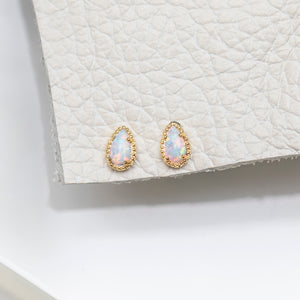 Dragon Egg Opal Studs : Gold