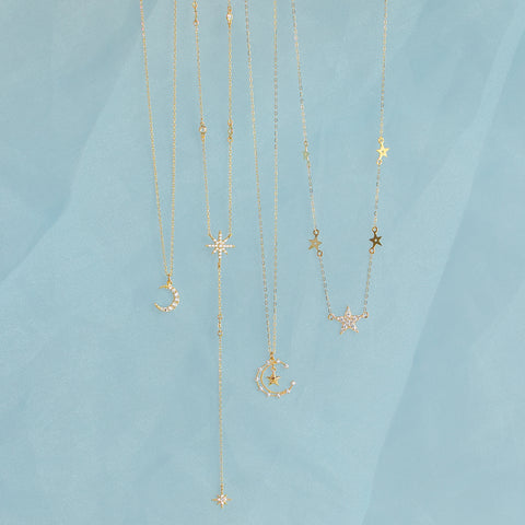 Fine Stellar Beam Necklace