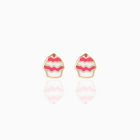 Fine Frosted Cupcake Studs