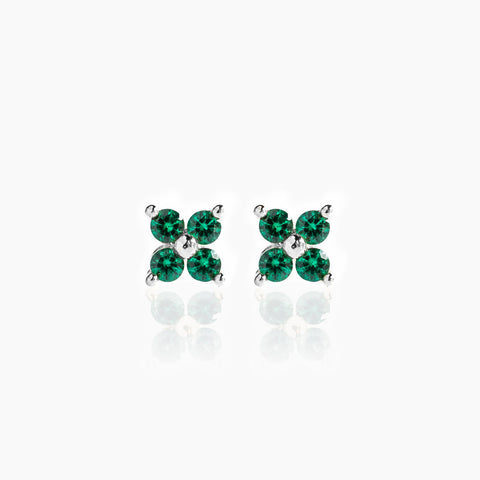 Teeny Tiny Emerald Cluster Studs