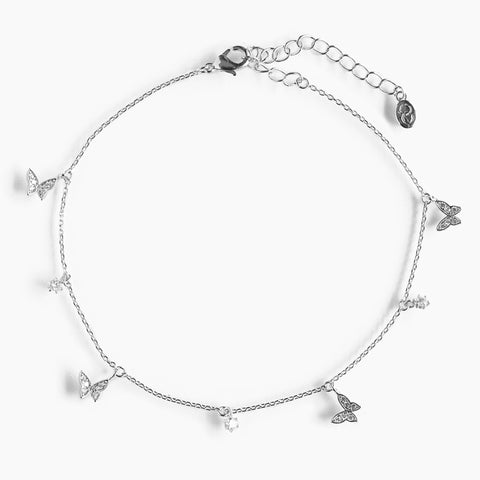 Butterfly Trio Anklet