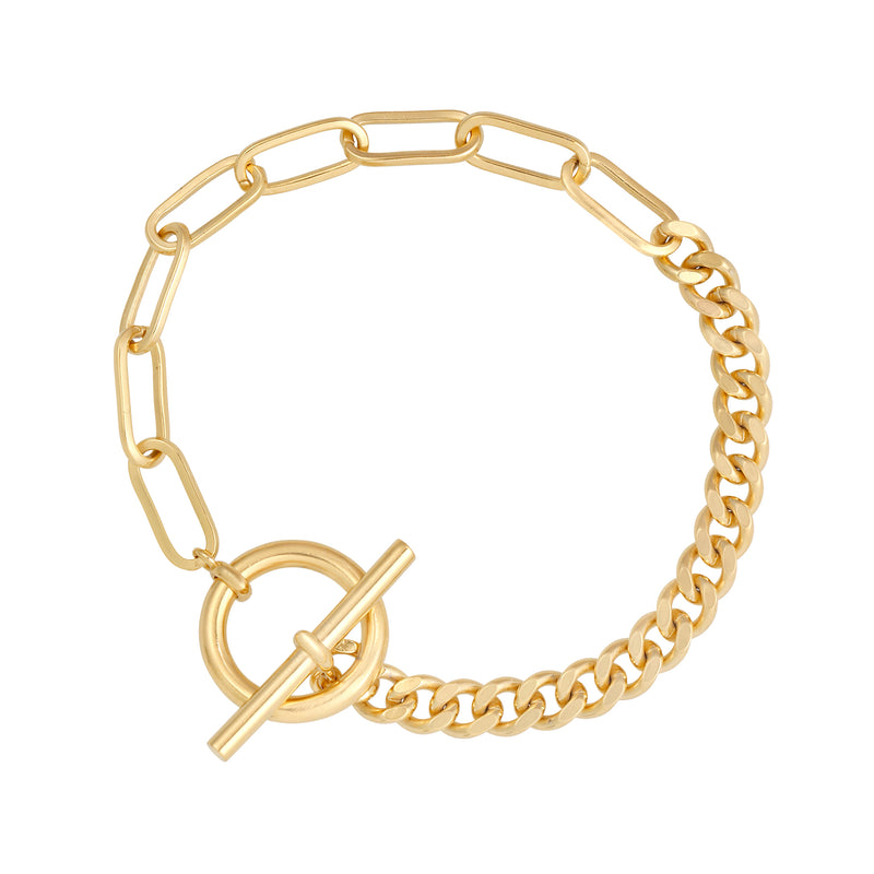 Take Two Chain Bracelet : Gold