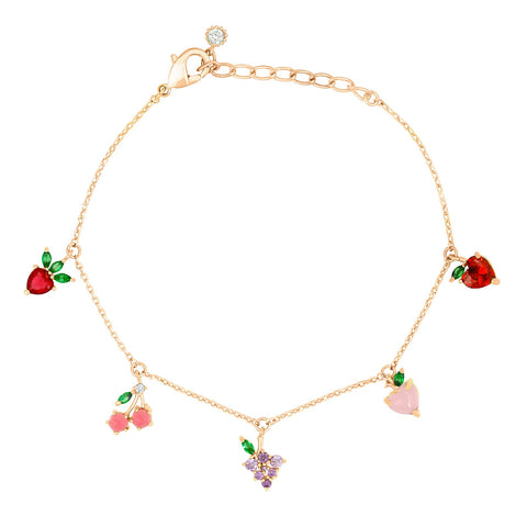 Fine Fruit Basket Bracelet