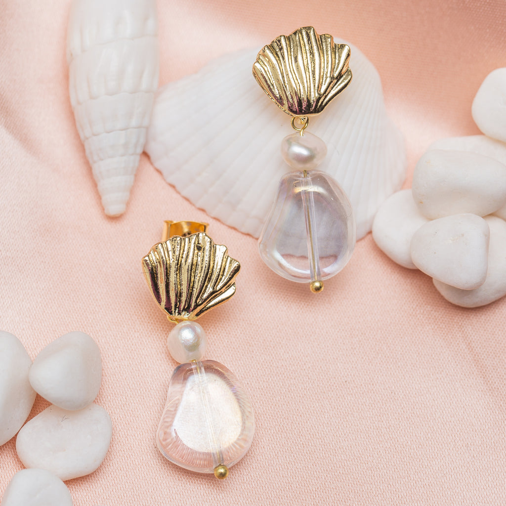 Misty Shell Earrings